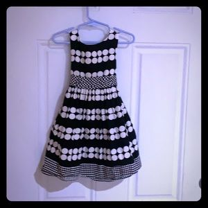 Little Girls polka dot ponte dress with belt